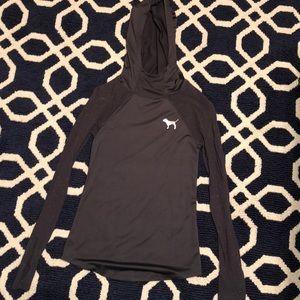 Tops - Grey VS PINK hooded shirt